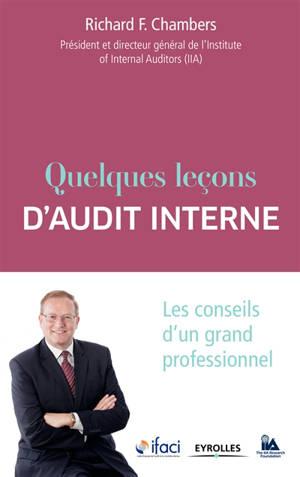 Quelques leçons d'audit interne : les conseils d'un grand professionnel