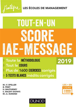 Score IAE-Message : tout-en-un : 2019