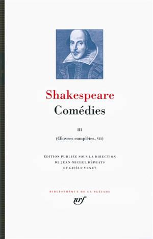 Oeuvres complètes, Volume 7, Comédies. Volume 3