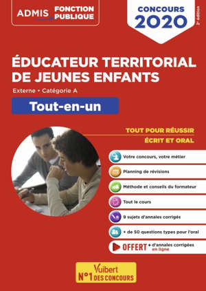 Educateur territorial de jeunes enfants : externe, catégorie A : tout-en-un, concours 2020