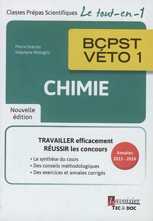 Chimie BCPST-Véto 1 : annales 2015-2016