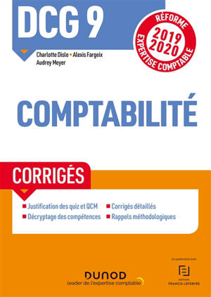DCG 9, comptabilité : corrigés