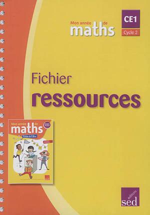 Mon année de maths CE1, cycle 2 : fichier ressources