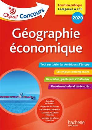 Géographie économique : fonction publique, catégories A et B, 2020