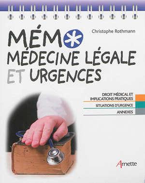 Mémo médecine légale et urgences