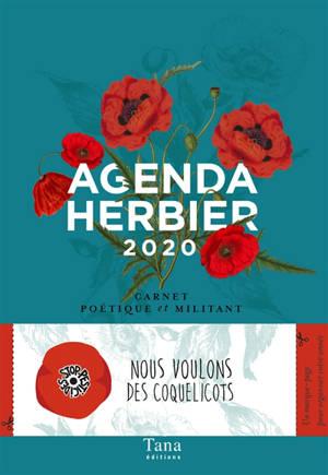 Agenda herbier 2020 : carnet poétique et militant