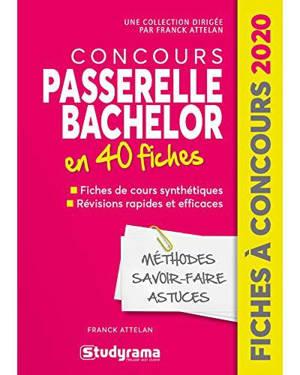 Concours Passerelle Bachelor en 40 fiches : 40 fiches, méthodes, savoir-faire et astuces : 2020