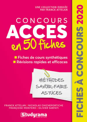Concours Accès en 50 fiches : méthodes, savoir-faire, astuces : 2020