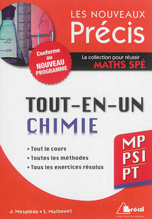 Tout-en-un : chimie : MP, PSI, PT