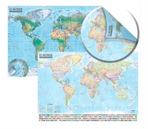 Carte du monde : politique et physique