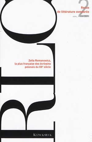 Revue de littérature comparée. n° 370, Zofia Romanowicz, la plus française des écrivains polonais du XXe siècle