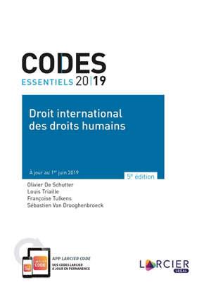 Code de droit international des droits de l'homme 2019