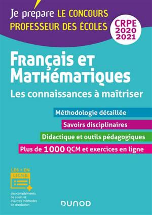 Français et mathématiques CRPE 2020-2021 : les connaissances à maîtriser