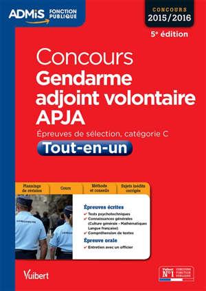Concours Gendarme Adjoint Volontaire épreuves De Sélection Catégorie C Concours 2015 2016 Tout En Un