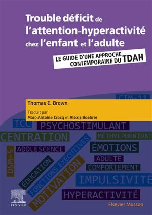 Trouble déficit de l'attention-hyperactivité chez l'enfant et l'adulte : le guide d'une approche contemporaine du TDAH