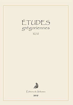 Etudes grégoriennes. n° 46
