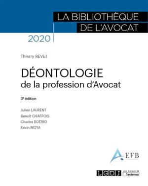 Déontologie de la profession d'avocat : 2020