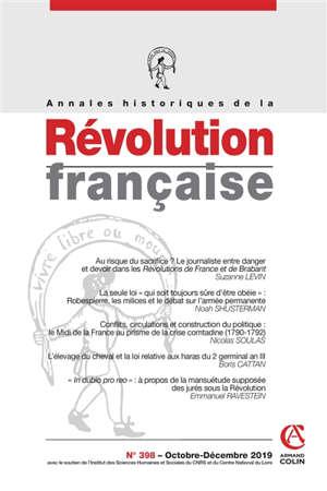 Annales historiques de la Révolution française. n° 398