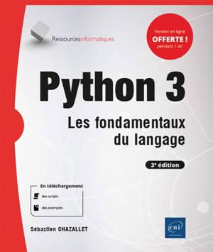Python 3 : les fondamentaux du langage