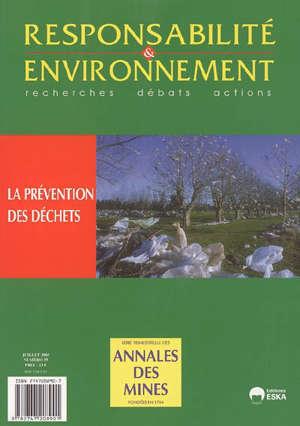 Responsabilité et environnement. n° 39, La prévention des déchets