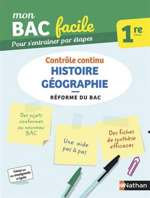 Histoire géographie, contrôle continu, 1re : réforme du bac