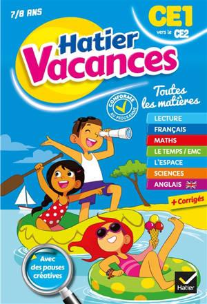 Hatier vacances, CE1 vers le CE2, 7-8 ans