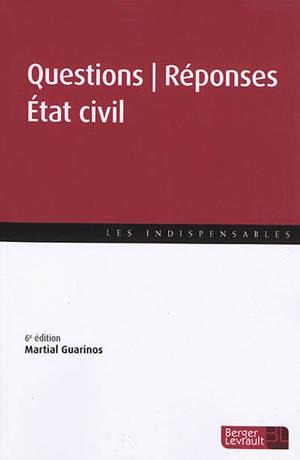 Etat civil : questions-réponses