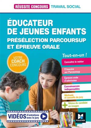 Educateur de jeunes enfants : présélection Parcoursup et épreuve orale : tout-en-un !