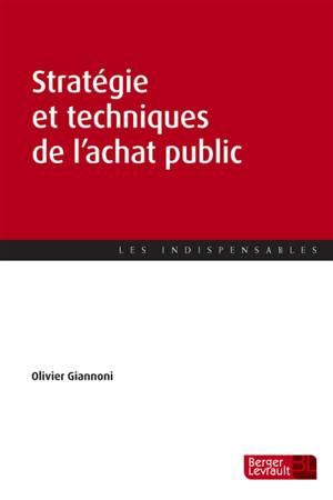 Stratégie et techniques de l'achat public