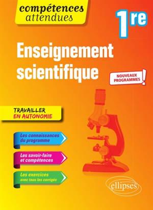 Enseignement scientifique 1re : nouveaux programmes
