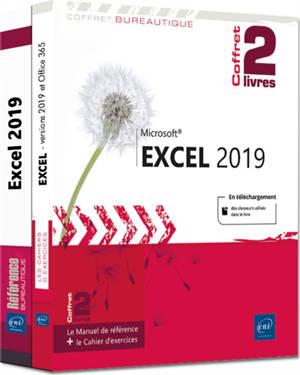 Excel 2019 : le manuel de référence + le cahier d'exercices : coffret de 2 livres