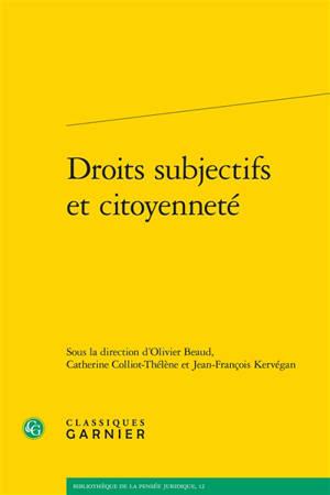 Droits subjectifs et citoyenneté