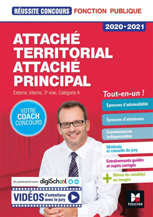 Attaché territorial, attaché principal : externe, interne, 3e voie, catégorie A : 2020-2021