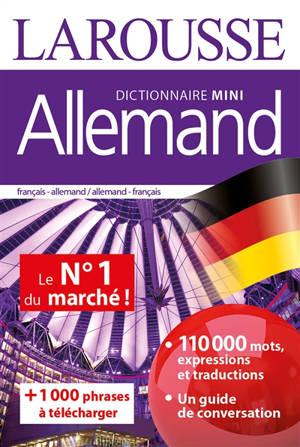 Allemand : dictionnaire mini : français-allemand, allemand-français = Deutsch : Miniwörterbuch : Französisch-Deutsch, Deutsch-Französisch
