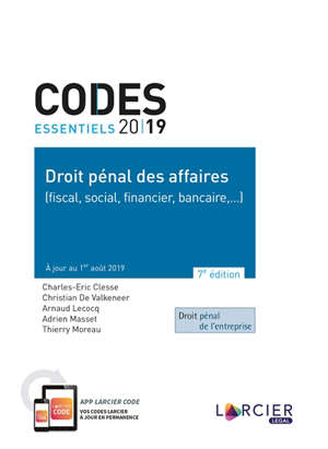 Droit pénal des affaires (fiscal, social, financier, bancaire...) 2019