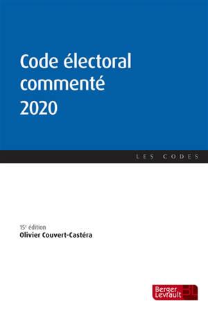Code électoral commenté 2020