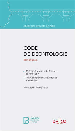 Code de déontologie : édition 2020
