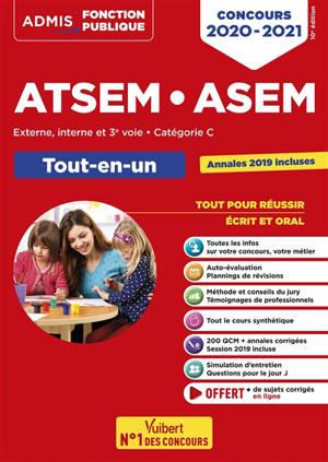 ATSEM, ASEM : externe, interne et 3e voie, catégorie C : tout-en-un, concours 2020-2021