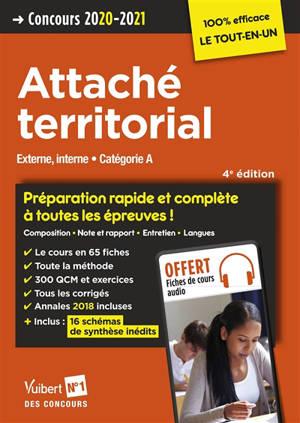 Attaché territorial : externe, interne, catégorie A : concours 2020-2021
