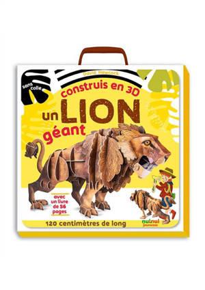 Construis en 3D un lion géant : sans colle, 80 centimètres de long