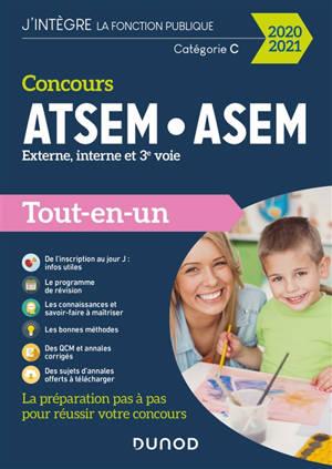 Concours ATSEM-ASEM : externe, interne, 3e voie : tout-en-un, concours 2021
