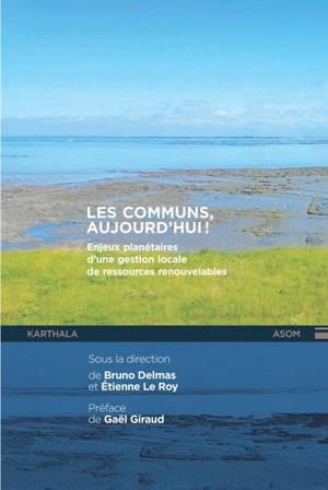 Les communs, aujourd'hui ! : enjeux planétaires d'une gestion locale des ressources renouvelables