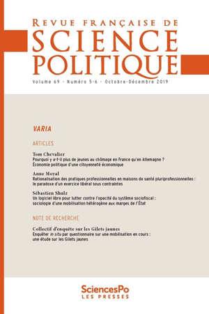 Revue française de science politique. n° 69-5