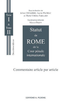 Statut de Rome de la Cour pénale internationale : commentaire article par article