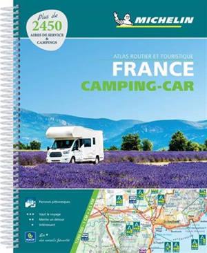 France camping-car : atlas routier et touristique : plus de 2.450 aires de service & campings