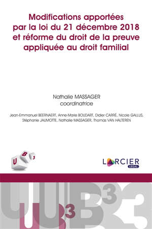 Modifications apportées par la loi du 21 décembre 2018 et réforme du droit de la preuve appliquée au droit familial