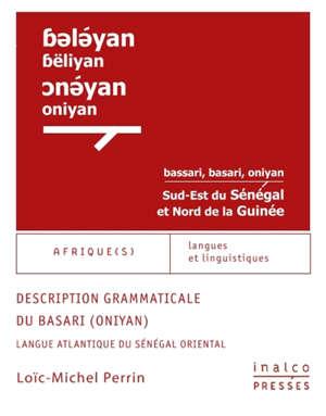 Description grammaticale du basari (oniyan) : langue atlantique du Sénégal oriental