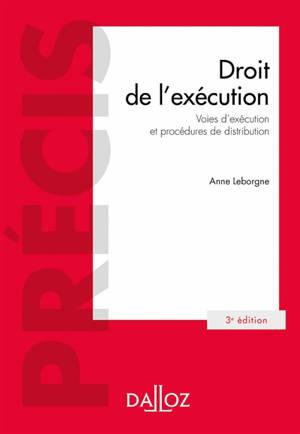 Droit de l'exécution : voies d'exécution et procédures de distribution