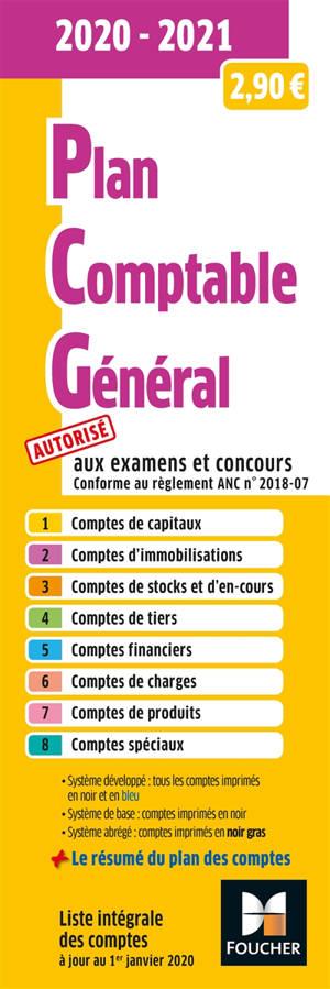 Plan comptable général 2020-2021 : autorisé aux examens et concours
