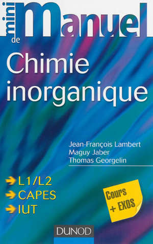 Chimie inorganique : L1-L2, Capes, IUT : cours + exercices